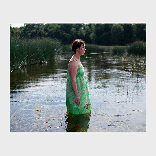 Woman in the lake